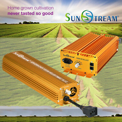 Sunstream 1000W Super Lumens Digital Dimmable Electronic Ballast for Grow Light