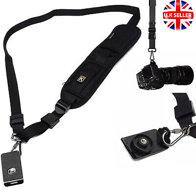 Camera Single Shoulder Belt Strap Sling SLR DSLR Canon Nikon Sony Quick Release