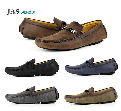 Mens Slip On Loafers Driving Shoes Casual Moccasin JAS Fashion Brand Size UK