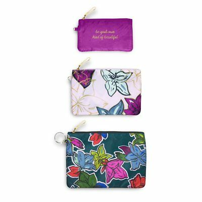 Vera Bradley - Pencil Pouch Trio - Falling Flowers - Three Pieces Included!