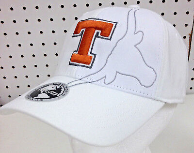 97521888 New White Sidewinder Licensed Texas Longhorns Embroidered Hat Ncaa One Fit  Cap