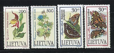 Lithuania 1992/95 Nature/flowers/plants/cypripedium/eringium/butterflies/insects