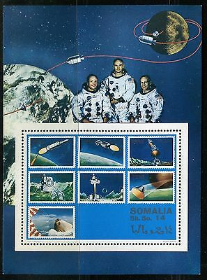 SOMALIA 1970 US SPACE EXPLORATION/ASTRONAUTS/MOON/PLANETS/EARTH/PLATFROM/SEA s.s