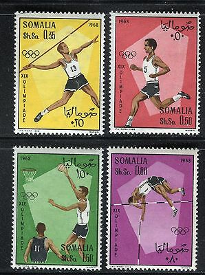 Somalia 1968 Olympic Games-Mexico/javelin/running/high Jump/basketball/sport
