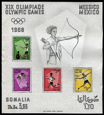 SOMALIA 1968 OLYMPIC GAMES-MEXICO/JAVELIN/RUNNING/HIGH JUMP/BASKETBALL/SPORT s.s