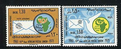 Somalia 1972 African Postal Union/organization/map/post Horn/dove/letter/emblem