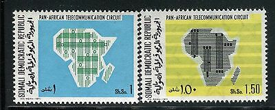 Somalia 1971 Pan-Africa Telecommunication System/map/wawes/technology/radio