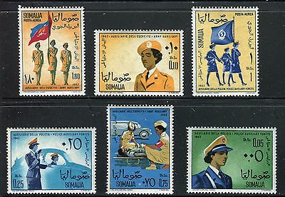 Somalia 1963 Women's Auxiliary Forces/police/car/uniform/military/radio/flags