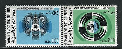Somalia 1971 World Telecommunication Day/wawes/globe/emblem/radio/technology