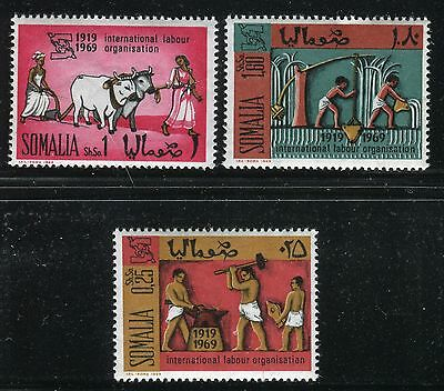 SOMALIA 1969 ILO 50th ANN/BLACKSMITHS/AGRICULTURE/WORKERS/OXDRAWN PLOW/WATER