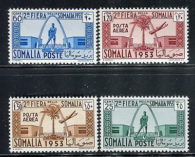 SOMALIA ITALY ADMIN 1953 2nd FAIR MOGADISHU/ARCHITECTURE/PLANTS/PALM/PLANE