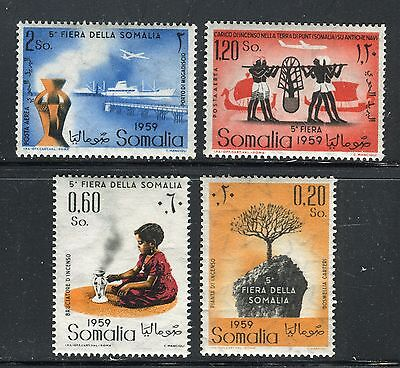 SOMALIA ITALY ADMIN 1960 5th SOMALI FAIR/SHIP/PLANE/INCENSE BUSH/ARCHAEOLOGY