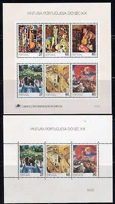 PORTOGALLO PORTUGAL 1988/90 20th CENT.PAINTINGS by PORTUGUESE ARTIST/ART set+ss