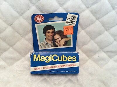 Vintage GE Magicubes Magic Cubes Camera Flash Pack of 3 New 12 Flashes