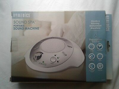 HOMEDICS - Sound Spa Relaxation Machine with 6 Nature Sounds Sleep - NEW!!!!