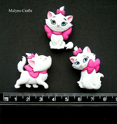 Disney MARIE Craft Buttons 1ST CLASS POST Aristocat Cat Animal Kitten Christmas