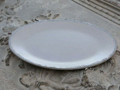 Chic Antique Tray Candle Plate Rose Oval Shabby Vintage Glitterkante 28cm