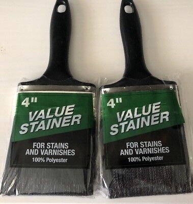 "(2x) Staining Brush 4"" - Value Stainer For Stains and Varnishes"