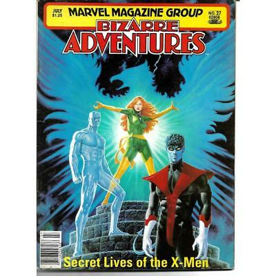 Bizarre Adventures 27 Marvel Comic Magazine Secret Lives of the X-Men July 1981