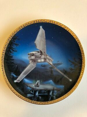 Star Wars IMPERIAL SHUTTLE HAMILTON Plate in Box, Certificate of Authenticity