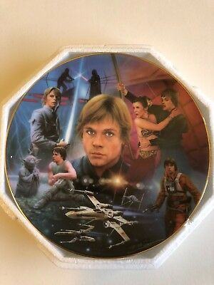 Star Wars LUKE SKYWALKER HAMILTON Plate in Box, Certificate of Authenticity