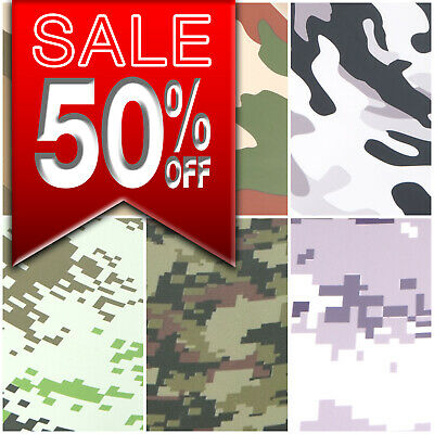 Camouflage / Urban Camo Car Vinyl Wrap - Sticker Film  - Bubble Free!! 6 Designs