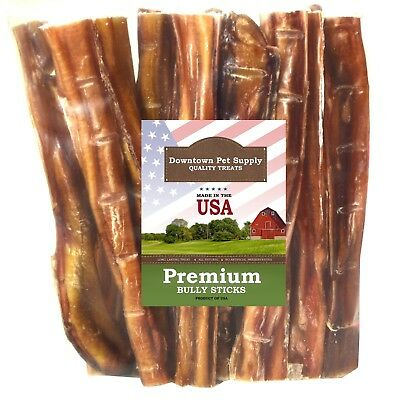 "Best Free Range 6"" & 12"" American Bully Sticks for Dogs Made in USA - Odorless"