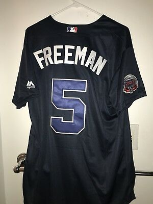 326cf64f7 Freddie Freeman Atlanta Braves Majestic Adult Men s MLB Jersey Size L
