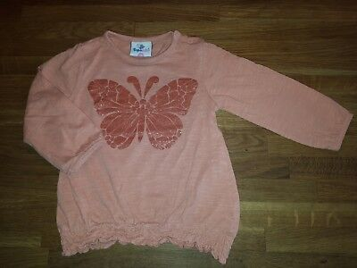 Baby Langarm Shirt Gr. 86 orange Schmetterling Topomini Ernsting's Family