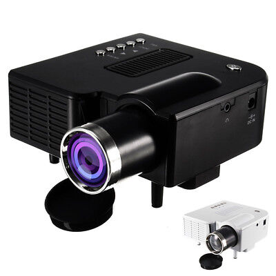 Full HD 1080P 4500Lumen LED 3D Beamer Projektor Projector HDMI*2/USB*2/VGA/TV EU