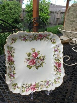 Old Foley Harmony Rose Serving Plate Vintage Collectable High Tea FREE POST