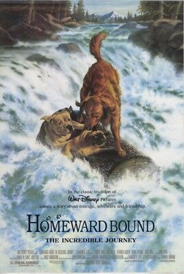 Homeward Bound Disney Live Action Double Sided Rolled 27x40 Movie Poster 1993