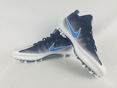 770ca39556ef1 NIKE Vapor Untouchable Pro Football Cleats Navy Blue White -Size 13- 839924- 131