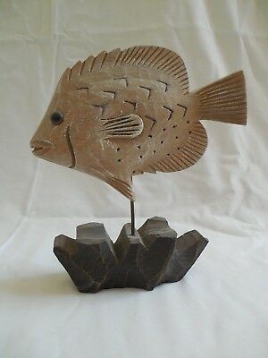 Decorative Carved Wooden Fish