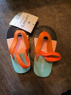 c3b07be30554 CARTERS TODDLERS NAVY Flip Flops Toddler 5 NWT -  7.98