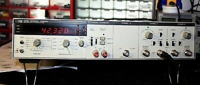 HP 5328A Universal Counter 500MHZ w/DIGITAL VOLTMETER. OPT. 021, 030