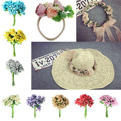 A Bunch of 12pcs Artificial Flowers Stamen Pistil for Wedding Decoration 8.5cm