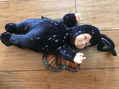 Sleeping Baby Plush Stuffed Beanbag Toy Doll Monarch Butterfly Anne Geddes
