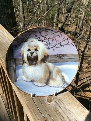 Lhasa Apsos Frosty Friend Danbury Mint Plate