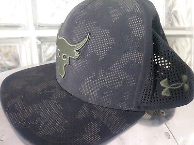 UNDER ARMOUR PROJECT Rock SuperVent Snapback Cap Hat UA Black Camo ... e1df9bdbec8