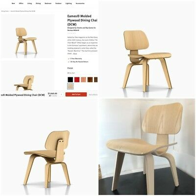 Pleasing 1X One Eames Molded Plywood Dining Chair Dcw In White Pdpeps Interior Chair Design Pdpepsorg