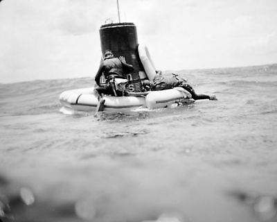 Navy Divers Attach Float Collar To Faith 7 For Recovery - 8X10 Photo Print