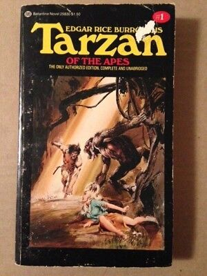 Tarzan of the Apes #1 by Edgar Rice Burroughs (1976, paperback) Vintage