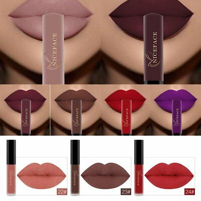 NICEFACE Lip Women Waterproof Matte  Gloss Liquid Long Lasting Lipstick Makeup