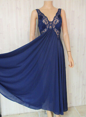 d0eaa2deffb31 VINTAGE BODY SILK OLGA FULL SWEEP BLUE NIGHT GOWN Small -  30.00 ...