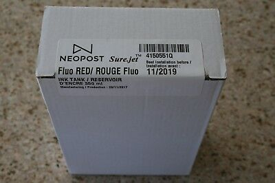 Genuine Neopost Surejet Fluo RED Rouge Ink Tank Reservoir 4150551Q FREE SHIPPING