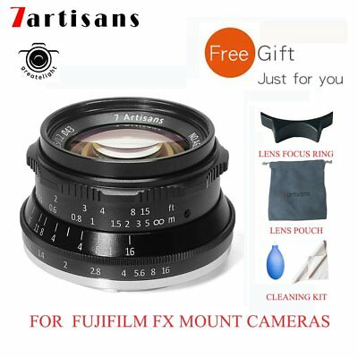 7artisans 35mm F1.2 Manual Lens For Fuji FX Mount X-M1 X-M2 X-Pro1 X-E1 XE2 X-A1
