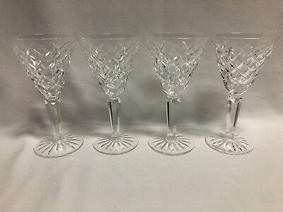 """Waterford Crystal Tyrone Set of 4 Claret Wine Glasses 6 1/2"""""""