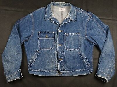 36461de174 Rare Vintage POLO RALPH LAUREN Authentic Dungarees Denim Jean Jacket 90s  USA XL