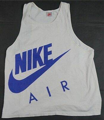 a594932d Rare Vintage NIKE Air Spell Out Swoosh 2 Sided Tank Top T Shirt 90s Retro  Size